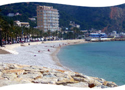 the Javea port beach